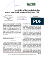 Dynamic Analysis of Single Machine Infinite Bus System(ModelamentoEspacoEstados)