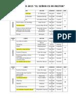 Plan Lector 2015 Posibles Obras