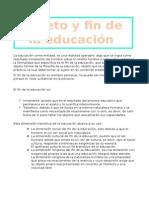 Sujeto y Fin de La Educación