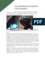 Comienzan a Descifrar en El País La Matriz de La Mentira