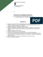 Tematica Selectie Subofiter Operativ D1