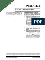 42a_a2e1_PIC17C42A Rev. a Silicon Errata Sheet