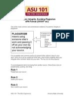 Avoiding Plagiarism APA 2010 6th Ed