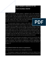 The Two Way Thematic Analysis of the Post Colonial Poetry