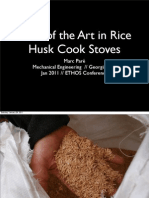 Rice Husk Cook Stoves