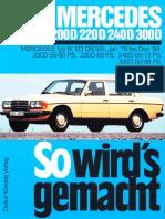 W123 200D, 220D 240D, 300D
