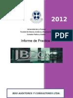 Informe de Práctica I  Johel Bravo Schneider. 2014-2015