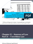 Chapter 2 - Source of Law Part II-unwritten Law