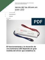 La Importancia Del Los Drivers en La Iluminación LED