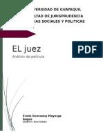 Analisis pelicula El Juez