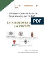 Cuaderno de Resúmenes - II Seminario MUEAF