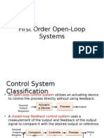 First Order Open-Loop Systems