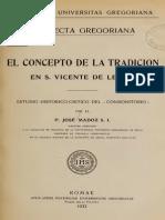 El Concepto de La Tradicion en S Vicente de Lerins J Madoz