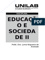 Tópicos - Educação e Sociedade II (Fevereiro de 2015)