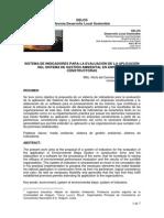 Sistema de Indicadores Para Empresas Constructoras
