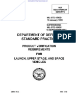 Product Verification Requirements for Launch, Upper Stage, And Space Vehicles Mil-std-1540d