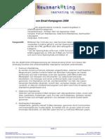 Erfolgsauswertung Von Email-Kampagnen 2008