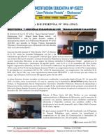 Notadeprensa 01-2015 Bienvenida