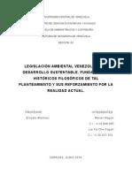 L DESARROLLO SUSTENTABLE. FUNDAMENTOS HISTÓRICOS FILOSÓFICOS DE TAL PLANTEAMIENTO Y SUS REFORZAMIENTO POR LA REALIDAD ACTUAL..doc