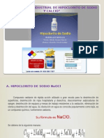 Produccion de Hipoclorito de Sodio