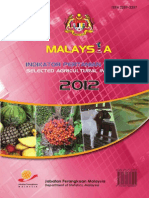 Selected Agricultural Indicators Malaysia 2012