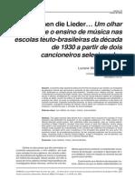 Es tönen die Lieder… Um olhar sobre o ensino de música nas escolas teuto-brasileiras da década de 1930 a partir de dois cancioneiros selecionados