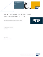 Upload XML File GTS