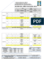 "Calendarizaciã""n Del Aã'o Escolar 2015"