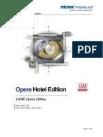 EAME OPERA PMS Utilities Description V4