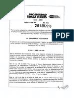 Resolución 0001240_2013