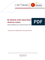 Elefante Indio Desembarca America Latina
