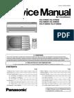 Split Type Airconditioner CS-C9DKD CU-C9DKD Service Manual
