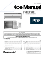 Split Type Airconditioner CS-C9DKD CU-C9DKD Service Manual