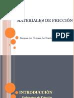 Presentacion Final Materiales de Fricción Discos de Embrague full