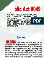 R.a. No. 8049 (Anti-Hazing Law)