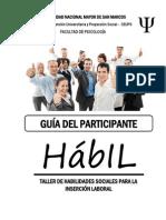 HABILIDADES SOCIALES INSERCIÓN LABORAL Guía Del Participante - Sesión3