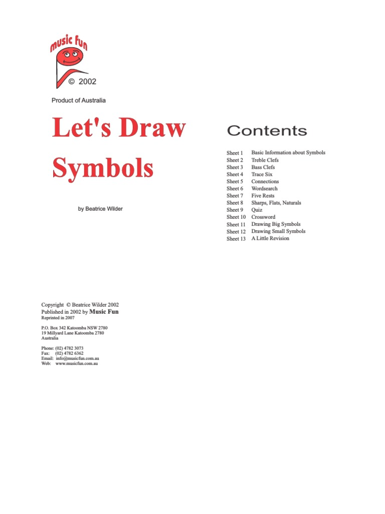 Draw Symbols2 Clef Musical Compositions