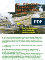 Heat Recovery From Geothermal Water
