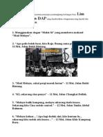 Berikut Adalah Beberapa Kenyataan Pemimpin Pembangkang Berbangsa Cina Lim Kit Siang Dan DAP