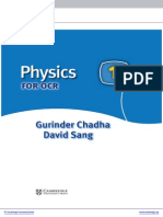 Cambridge Ocr Advanced Sciences Physics 1 for Ocr
