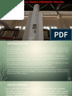 Indo - France Maitri (QRSAM) Missile