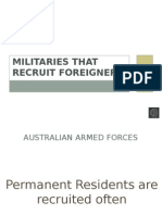 Militaries That Recruit Foreigners