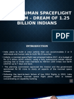 Indian Human Spacelight Program - Dream Of 1.25 Billion Indians