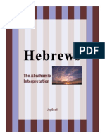 Book of Hebrews The Abrahamic Interpretation