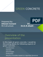 green concrete seminar