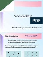 Kuliah Kedua Geostatistik