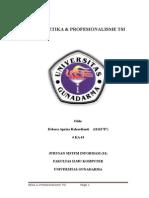 Tugas Etika & Profesionalisme TSI_Task1_02 Maret 2015
