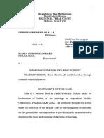 Memorandum for the Respondent in LegForms