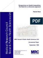 perspectives of health inequalities