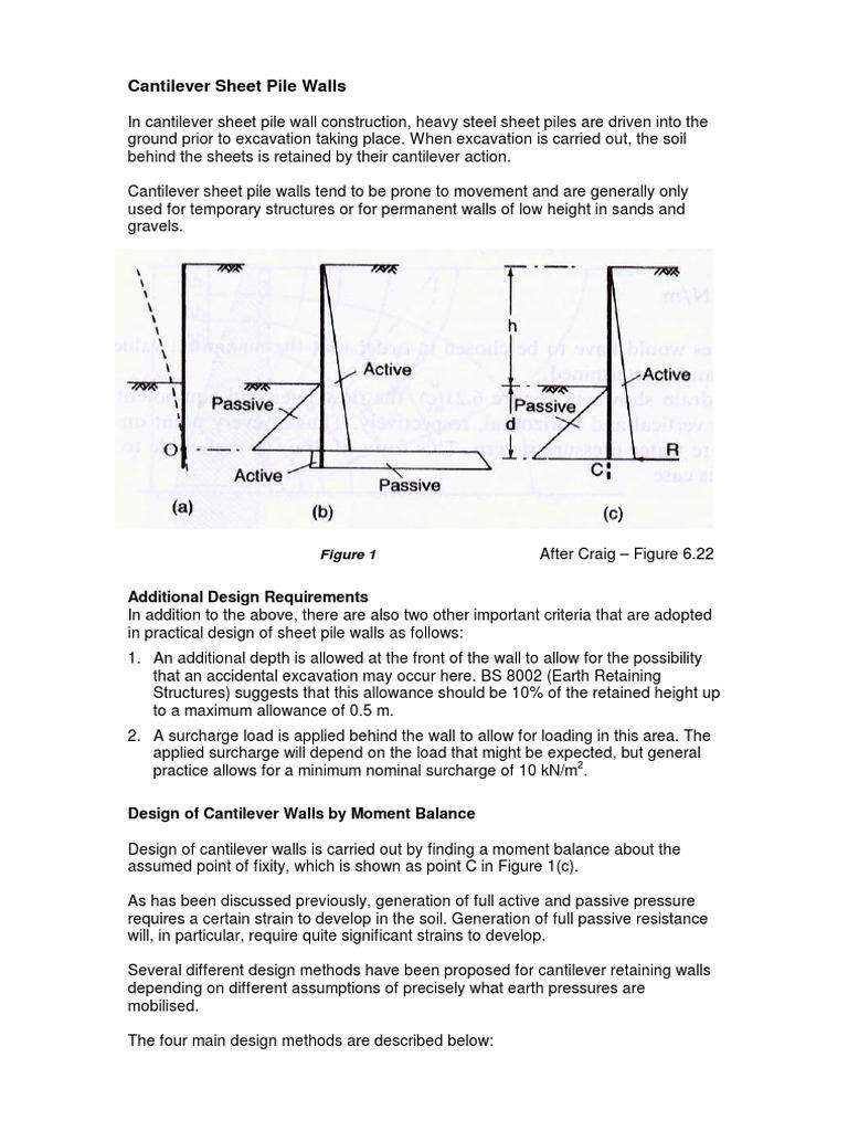 Cantilever Sheet Pile Walls | Deep Foundation | Soil